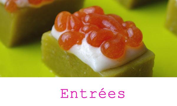Recettes des entr es et amuses bouches cuisine for Spherification cuisine moleculaire