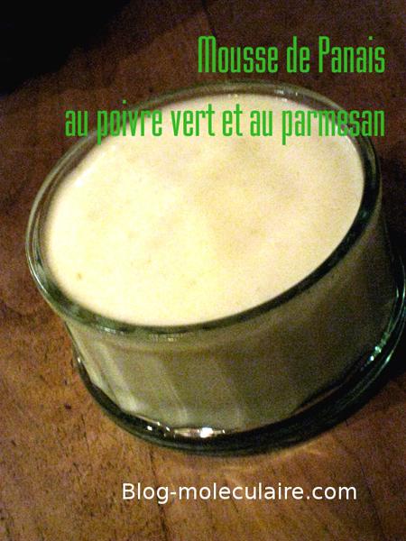 Mousse de panais au poivre vert