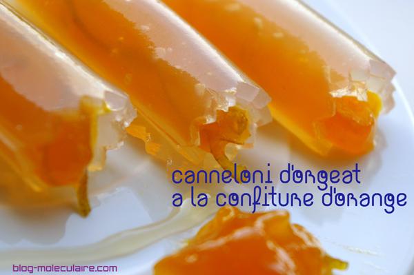 Cannelloni d'orgeat