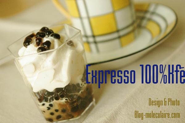 Verrine d'expresso 100% Kfé