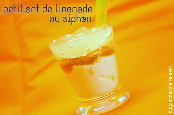 Pétillant de limonade au siphon