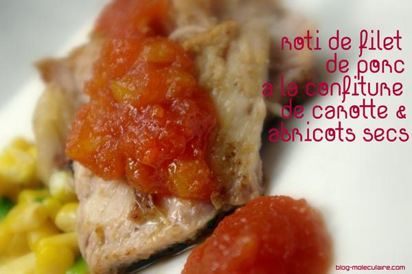 Rôti de filet de porc à la confiture de carotte