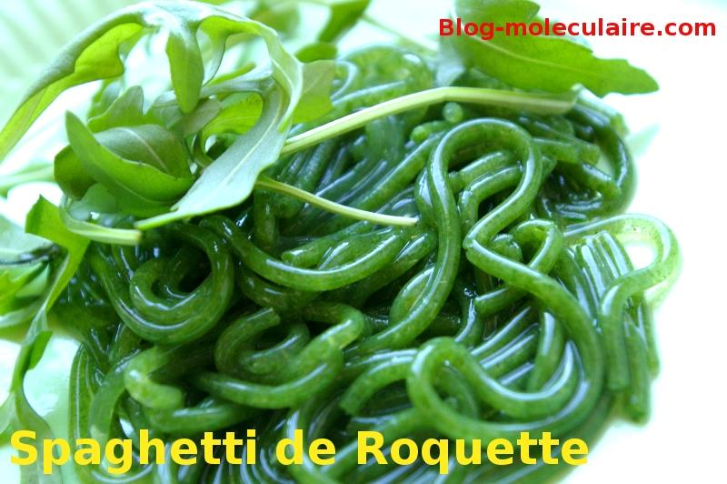 Recette de spaghettis de roquette cuisine moleculaire blog mol culaire - Spaghetti cuisine moleculaire ...